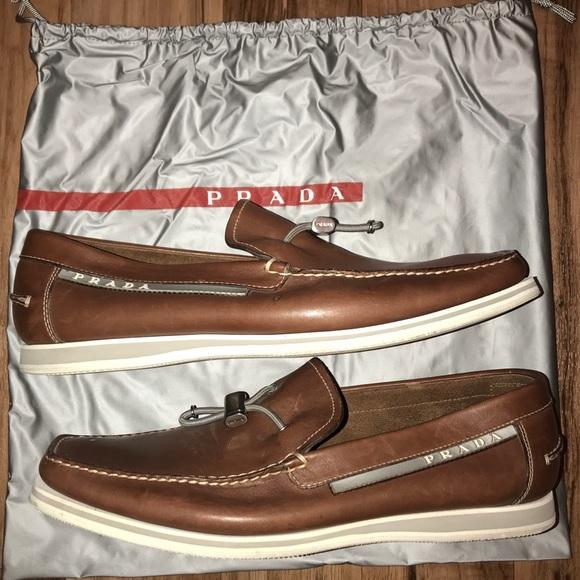 Prada Shoes | Prada Brown Boat Shoe